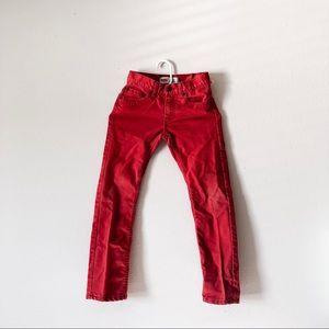 LEVI'S 511 slim boys red jean size 10